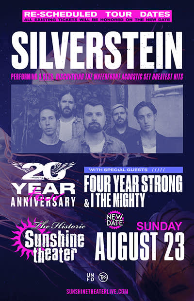 *** CANCELED *** Silverstein: 20 Year Anniversary Tour