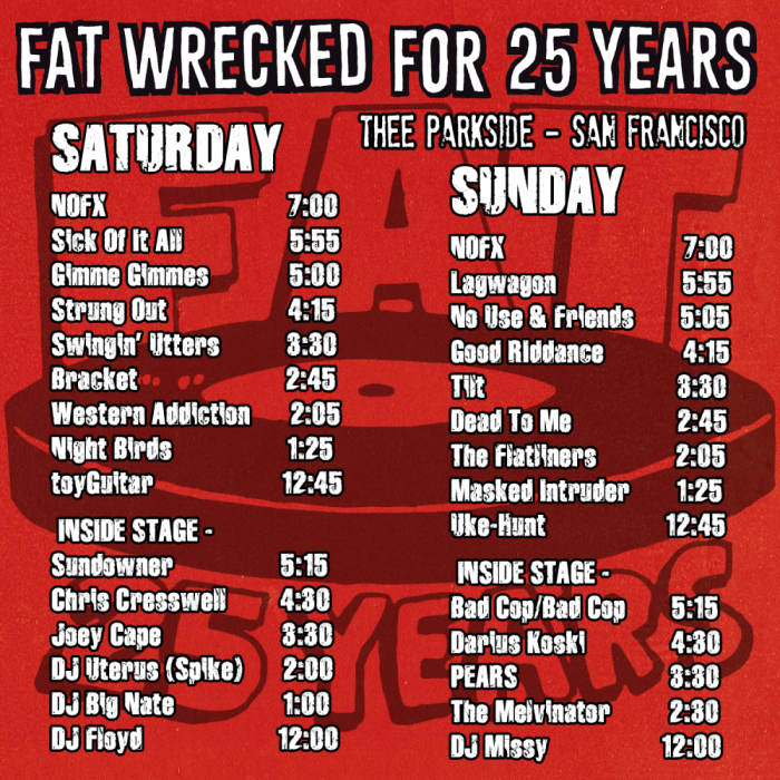 Fat Wrecked For 25 Years Fat Wreck Chords 25th Anniversary