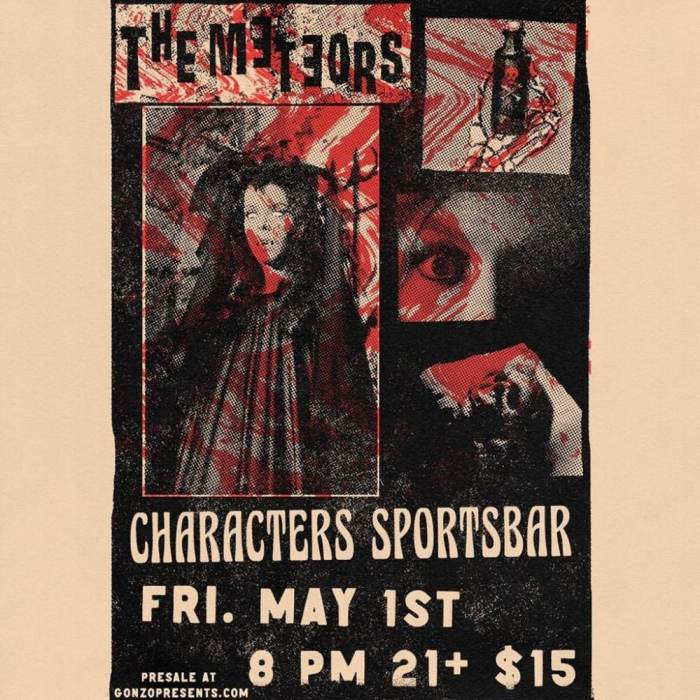 THE METEORS only LA area club. Appearance