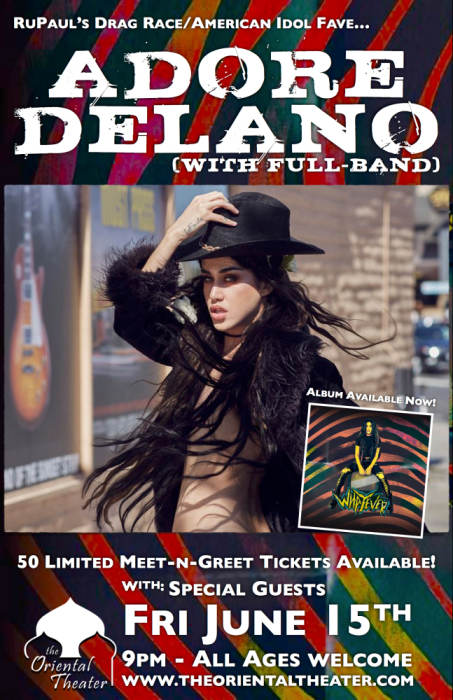 Adore delanos whatever tour 2018 with full band w carnivale de ru pauls drag race american idol fave m4hsunfo