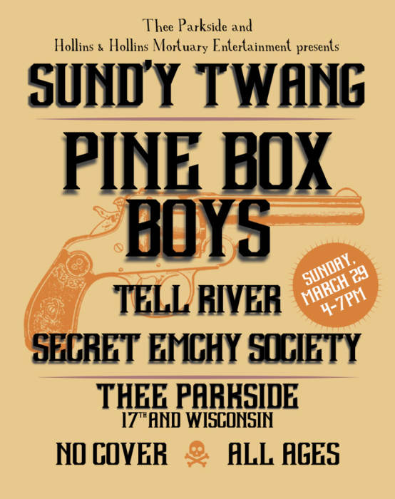 Famous TWANG! Sunday at Thee Parkside