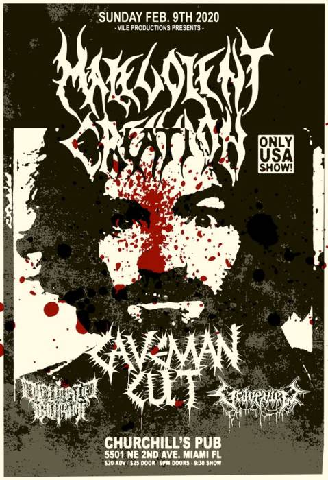 MALEVOLENT CREATION, Caveman Cult, Graveview, Deviant Burial
