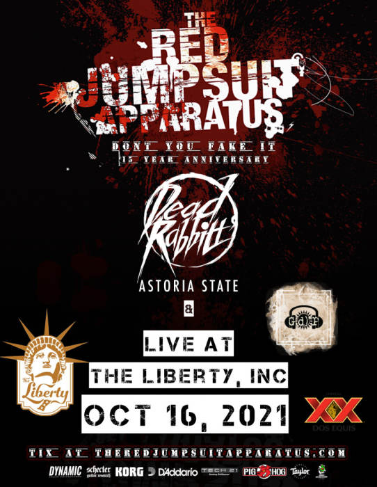 Red Jumpsuit Apparatus w/ Dead Rabbits, Astoria State & GDP