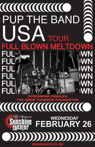 PUP The Band - Full Blown Meltdown USA Tour