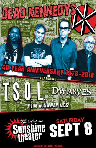 Dead Kennedys 40th Anniversary Tour * TSOL * Dwarves * Runaway Kids