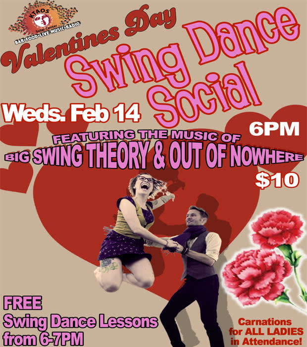 Valentine S Day Swing Dance Social Feat The Music Of Big Ktaos