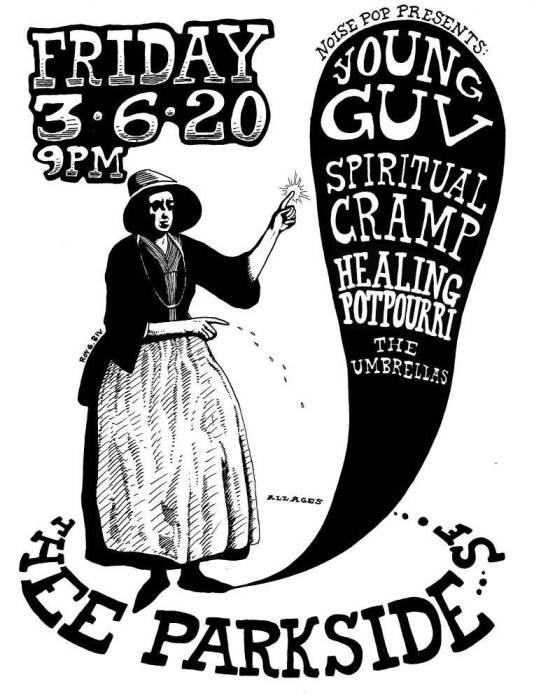 Young Guv, Spiritual Cramp, Healing Potpourri & The Umbrellas