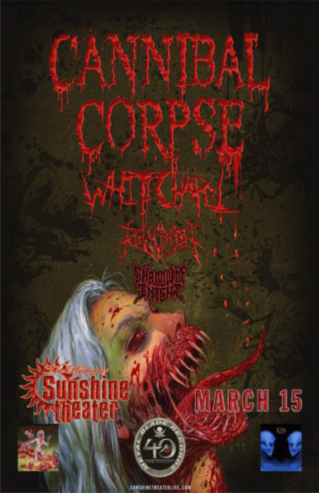 Cannibal Corpse * Whitechapel * Revocation * Shadow of Intent
