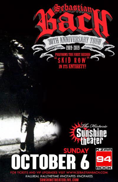 Sebastian Bach 30th Anniversary Tour