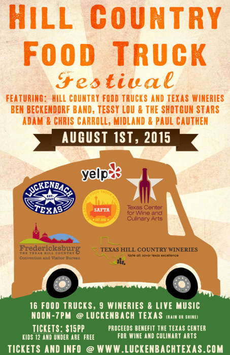 Hill country food truck festival luckenbach texas for Argents hill country cuisine