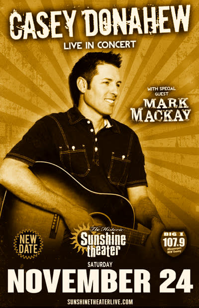 Casey Donahew * Mark Mackay ***NEW DATE***