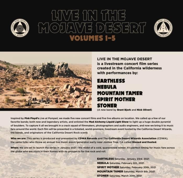 Mountain Tamer - Live In The Mojave Desert