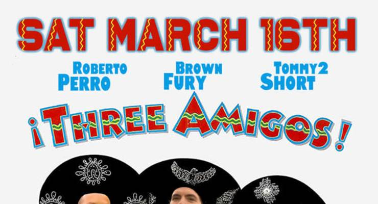 3 AMIGOS - ROBERTO PERRO, BROWN FURY, TOMMY2 SHORT