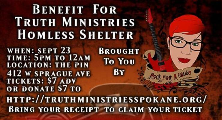 A Benefit for Truth Ministries Homeless Shelter featuring; December in Red