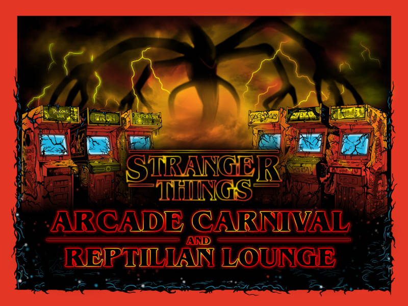 Stranger Things Arcade Carnival & Reptilian Lounge @ Tractor Brewing Wells  Park Albuquerque, NM - October 27th 2018 7:00 pm