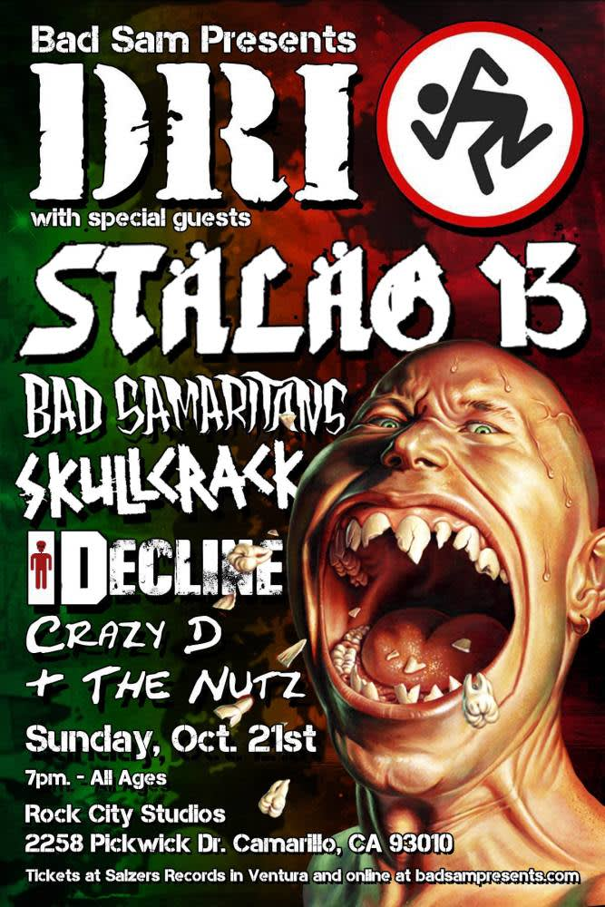 Dri With Stalag 13 Bad Samaritans At Rock City Studios Camarillo