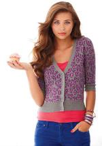 Delias - Chloe Printed Cardigan Sweater