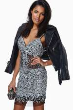Nasty Gal - Glamourous Night Jewel Sequin Party Dress