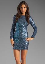 DRESS THE POPULATION - Lola Long Sleeve Dress
