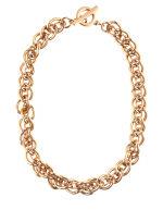 ANNE KLEIN - Gold-Tone Chain Link Collar Necklace