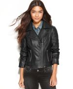 Macy's - Levi's Jacket, Asymmetrical Faux-Leather Motorcycle