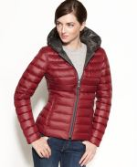 Macy's - Nautica Coat, Reversible Hooded Quilted Packable Puffer