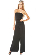 Girlfriends Fashions - Strapless Ruched Jumpsuit