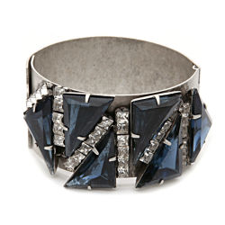 Elizabeth Cole Jewelry - Strider Triangle Bracelet, Silver, Blue 1 ea