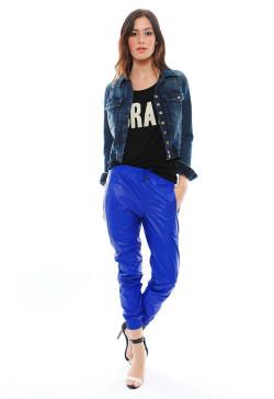 Alexis - Cober Baggy Leather Pants