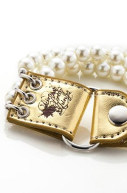 Dirty Pretty Things - Trinity Bracelet Gold & Pearl