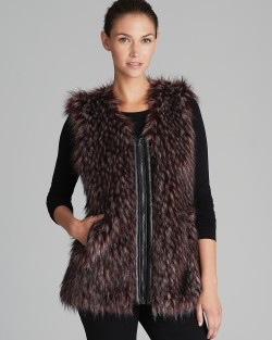 Bloomingdales - Via Spiga Parma Collarless Faux Fur Vest