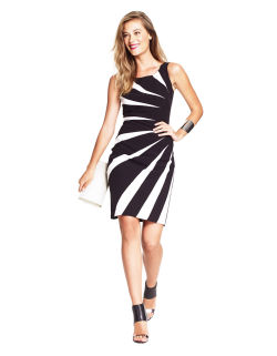 ADRIANNA PAPELL - Contrast Sheath Dress