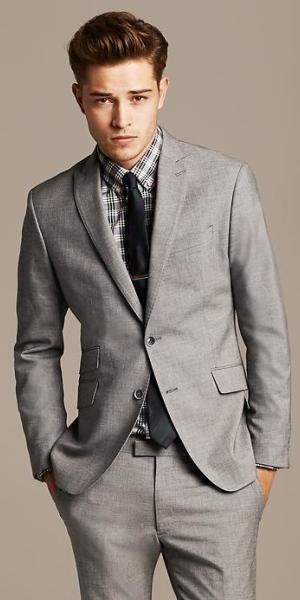 Banana Republic - Modern Slim-Fit Grey Suit Jacket