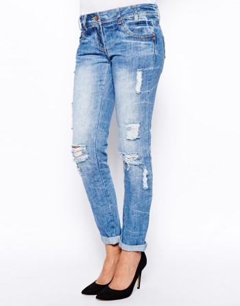New Look - Geo-Tribal Ripped Boyfriend Jean