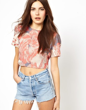 Costa Blanca - Printed Crop Top
