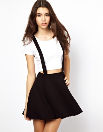 Asos - Ponte Skater Skirt with Suspenders