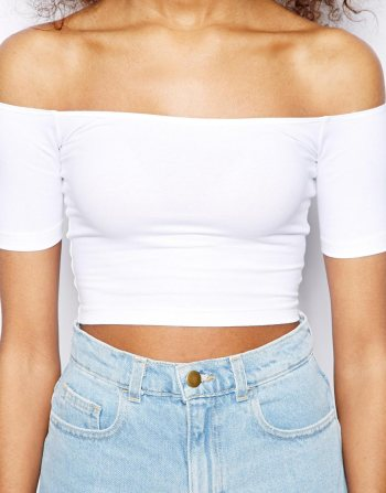American Apparel - Off The Shoulder Crop Top