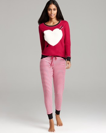 Bloomingdales - Kensie Always a Deer Heart Thermal Pajama Set