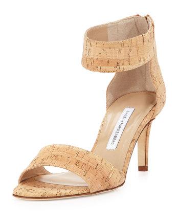 Diane Von Furstenberg - Kinder Cork Ankle-Strap Sandal