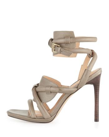 Rachel Zoe - Monica Piped Ankle-Wrap Sandal