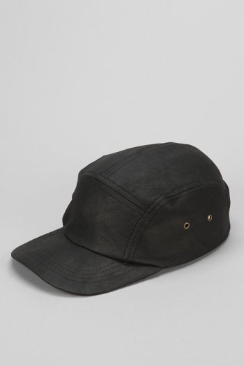 Zanerobe - Black Leather 5-Panel Hat