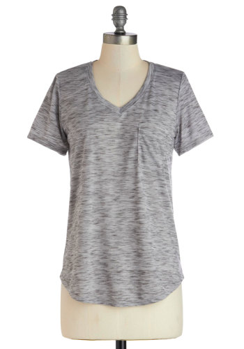 ModCloth - Carefree for the Day Top in Grey