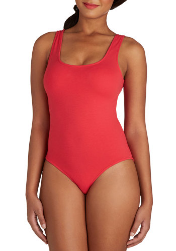 ModCloth - Founding Fashionistas Bodysuit in Red