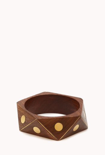 Forever 21 - Dotted Geo Wood Bangle