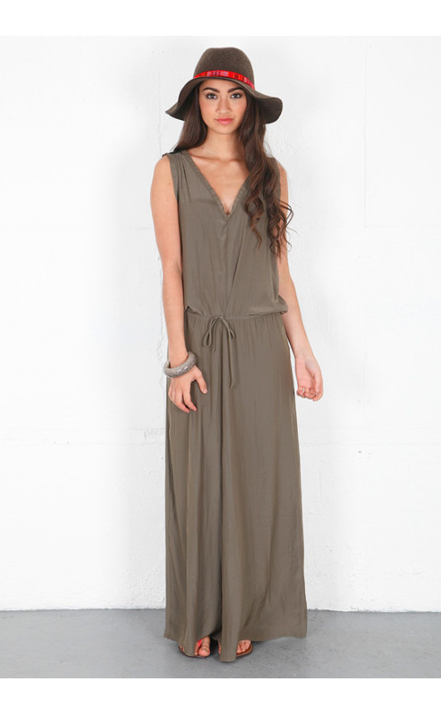 Feel The Piece - Drawstring Maxi Dress