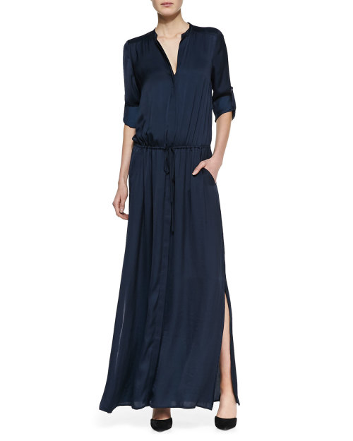 Vince - Flowy Maxi Shirtdress