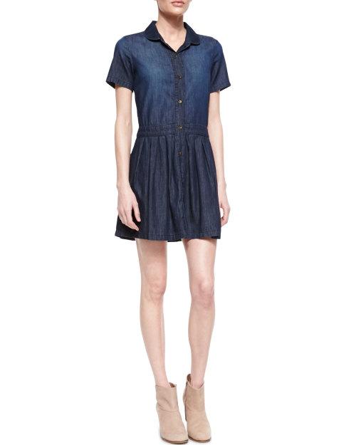 Current/elliott - The School Girl Chambray Shirtdress