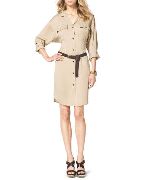 Michael Michael Kors - Long-Sleeve Shirtdress