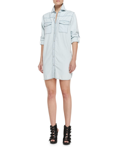 Current/elliott - The Lily Button-Down Shirtdress