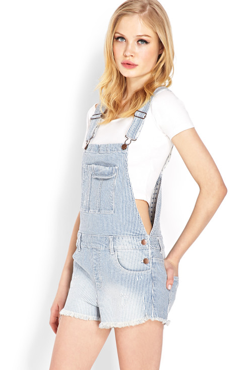 Forever 21 - Blue Jeans Babe Overall Shorts